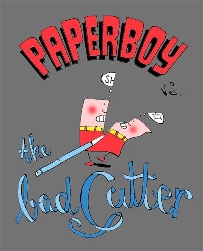 woot Paperboy grey